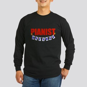 Retired Pianist Long Sleeve Dark T-Shirt